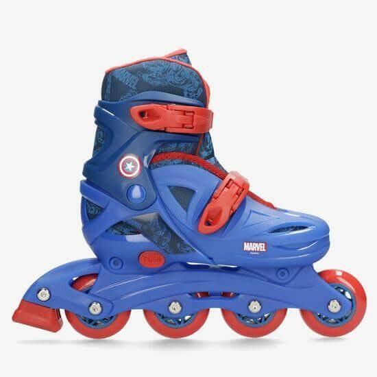 patins do capitão América da Marvel da sportzone