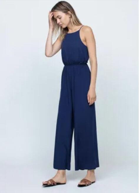 Vestido midi em azul da tiffosi
