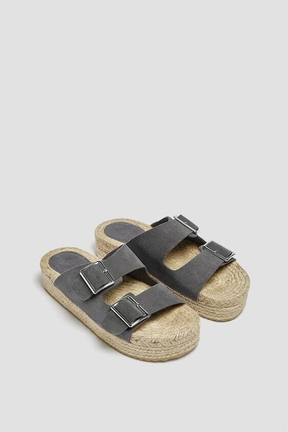 Sandálias rasas da pull & bear