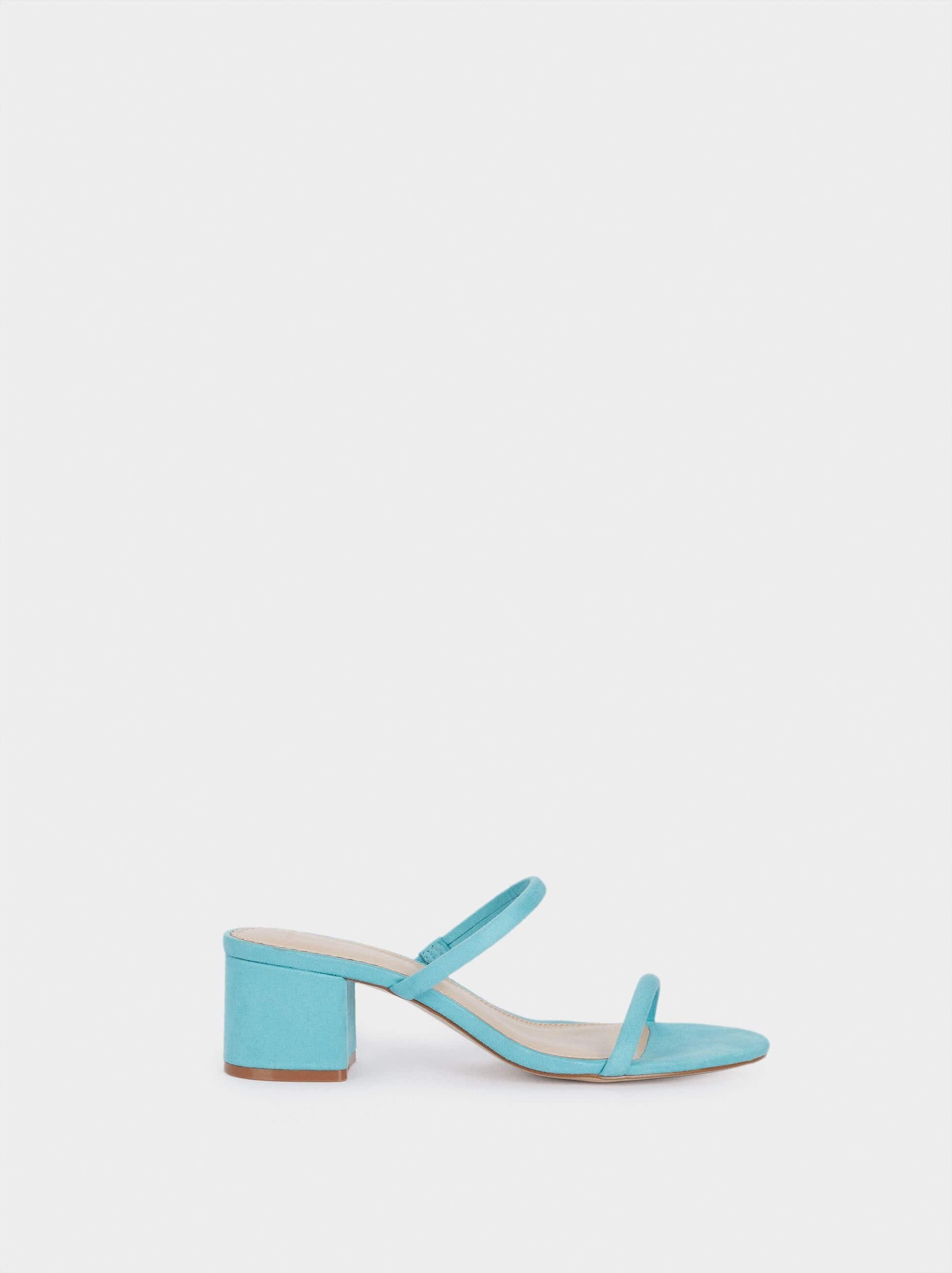 Sandálias de cunha em azul claro da parfois